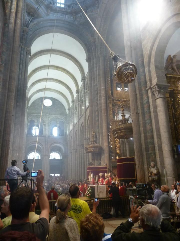Botafumeiro in Cathedral of Santiago (A Coruña).