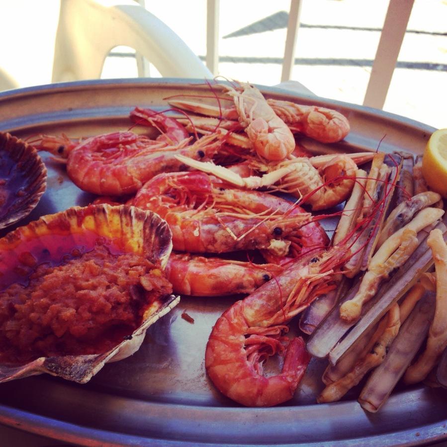 Just one platter of an abundant mariscada.
