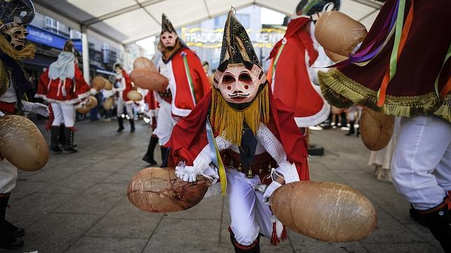 The pantallas are the center of the festivities in Xinzo.