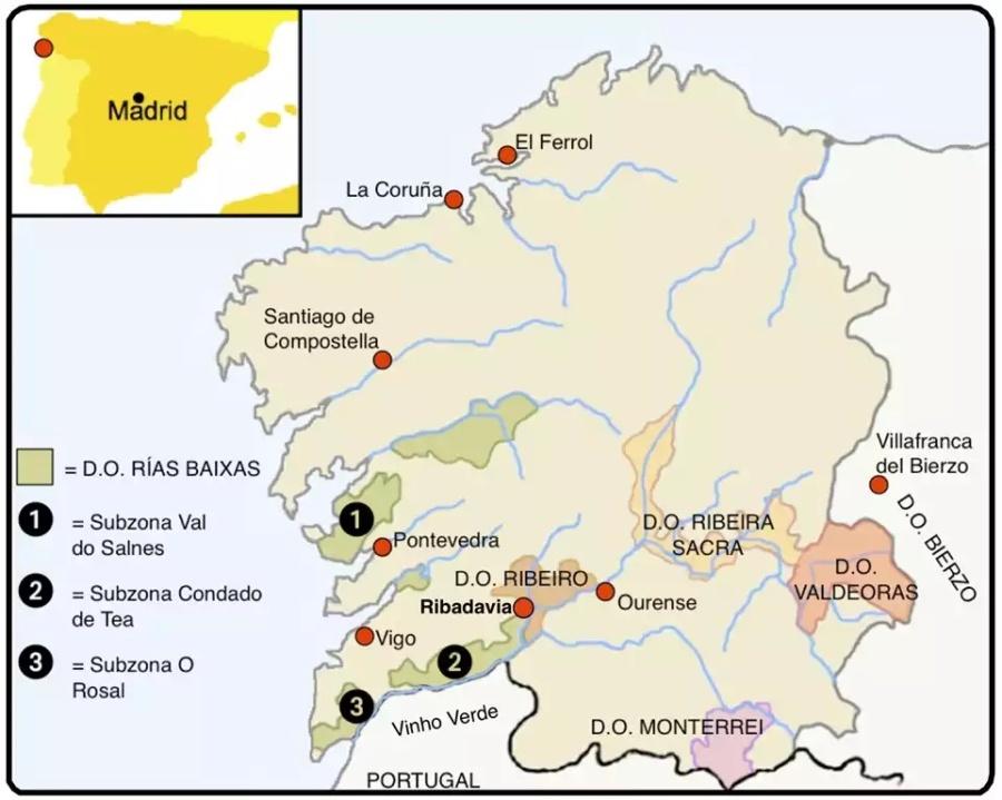 Galicia's wine regions